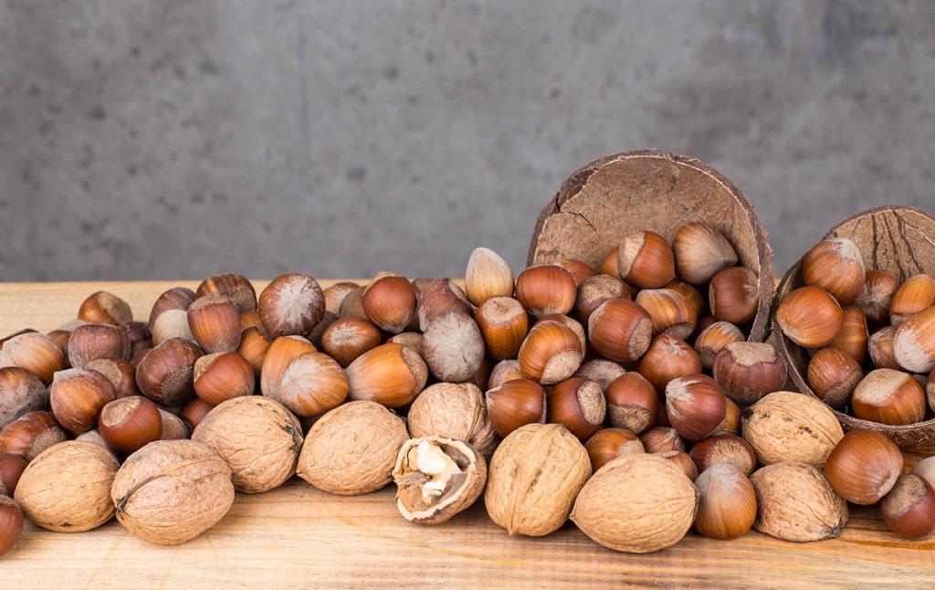Какие орехи полезнее: грецкие или фундук.